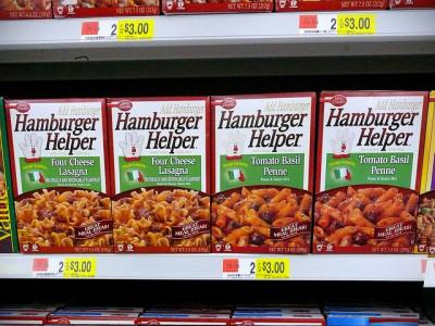売場に並ぶハンバーガーヘルパー