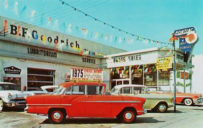 懐かしき古きアメリカの自動車ディーラー
