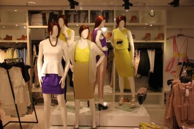 ミラノの洋服店