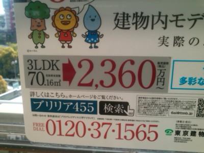 マンションの価格表示
