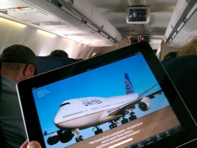 機内のiPad