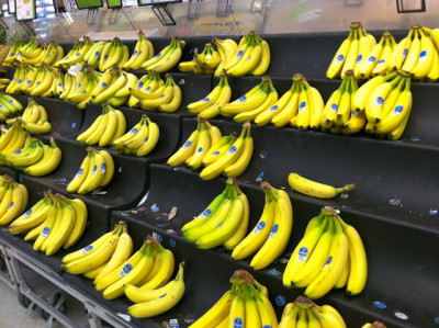 banana at supermarket