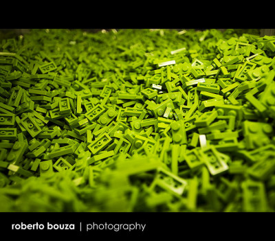 green materials from lego