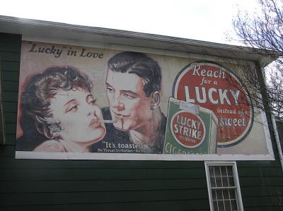 "Vintage ""Lucky Strike"" billboard - Durham County, NC"