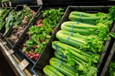 Leafy green produce at a grocery store in Fairfax, Virginia