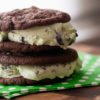 Double Mint Chip Ice Cream Sandwiches