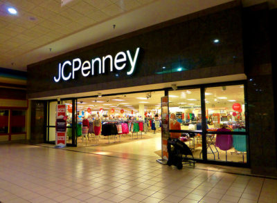 JCPenney mall entrance