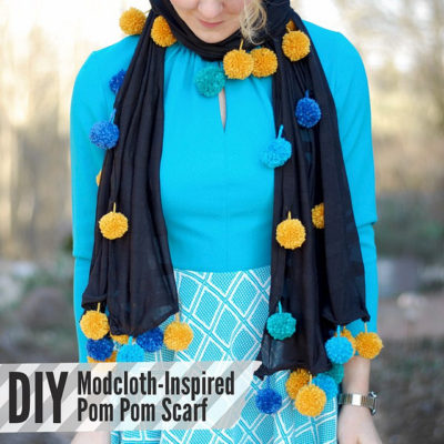 DIY Modcloth-Inspired Pom Pom Scarf